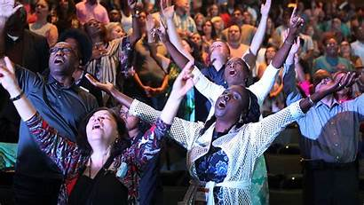 Church Osteen Joel Service Happiness Religion God