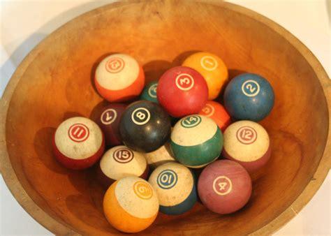 vintage pool balls billiards theme decorative bowl filler