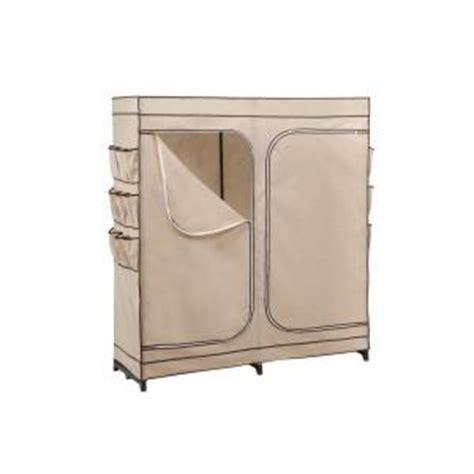 honey can do 60 in door storage closet with shoe