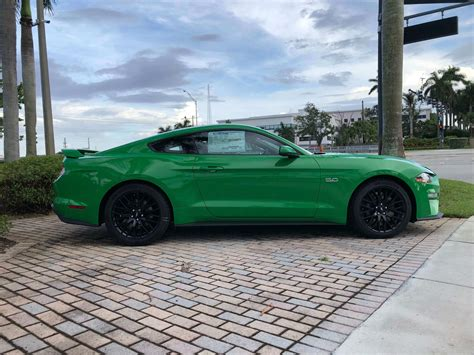 mustang color options     green