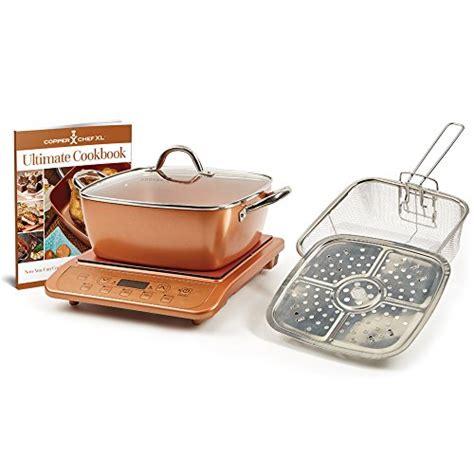 copper chef casserole  lid  pan pot pcs induction cooktop cookware cooks ebay