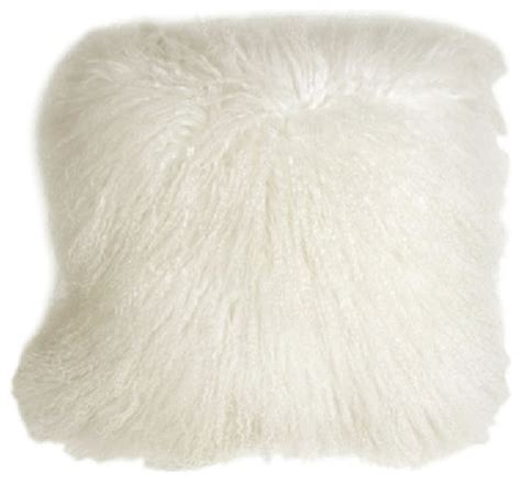 Decorative Outdoor Lumbar Pillows by Pillow Decor Mongolian Sheepskin Throw Pillows