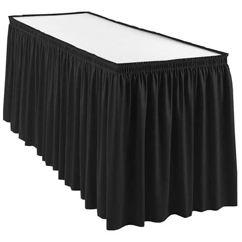 drape table snap drape wyn1v21629 blk wyndham 21 5 ft table skirt