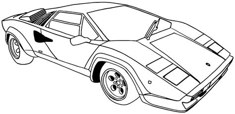 printable coloring pages  sports cars coloring home