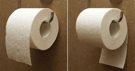 rouleau de papier toilette la feuille du rouleau de papier de toilette va t par dessus ou en dessous jdm