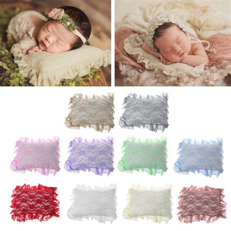 newborn baby posting pillow crochet soft lace