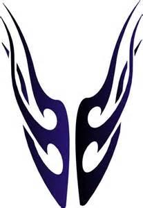 Tribal Flame Tattoo Stencils