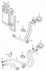 Volkswagen Passat Water Hose  Heat Exchanger U0026gt Coolant P    Ratio  Exchangercoolant  Different