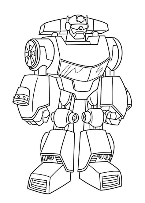 Kleurplaat Rescue Bots Station by Bot Coloring Pages For Printable Free Rescue
