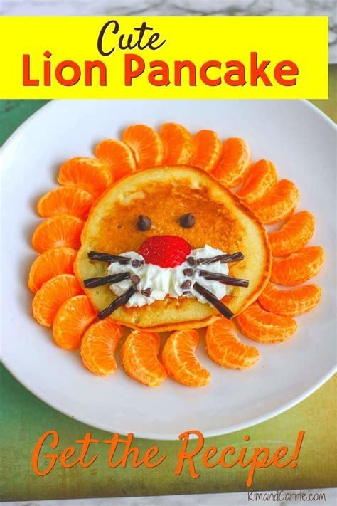 lion king themed pancakes  roaring good breakfast idea