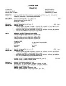 Resume Title Exles For by Sle Resume With Professional Title For Objective