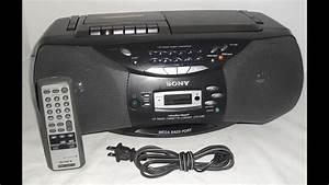 Radio Cd Kassette : sony cfd s36 portable stereo cd cassette radio demo youtube ~ Jslefanu.com Haus und Dekorationen
