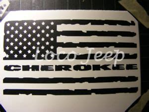 jeep cherokee american flag jeep cherokee flag decal xj sticker ebay