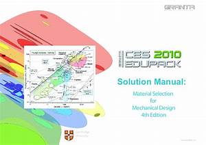 Pdf  Solution Manual  Material Selection For Mechanical