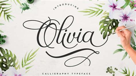 olivia  script font pinspiry