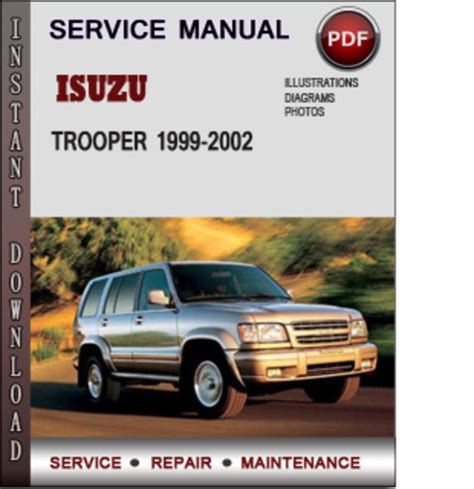 service and repair manuals 1997 isuzu trooper auto manual isuzu trooper 1999 2002 factory service repair manual download pdf