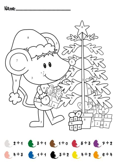 Coloring Pages   Christmas Addition Math Activity Free! For Pre K And Kindergarten, Math
