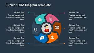 6 Steps Circular Crm Diagram For Powerpoint