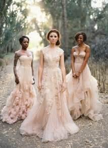 blush bridesmaid dresses how to wear a blush wedding dress wedding ideas oncewed