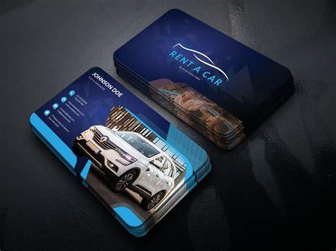 business card psd  car rental sale  dazzler software
