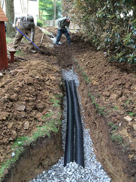drainage ditch solutions residential grading drainage solutions northern virginia your landscape partner