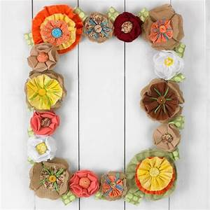 Cadre à Décorer : fleurs en tissu diy ~ Zukunftsfamilie.com Idées de Décoration