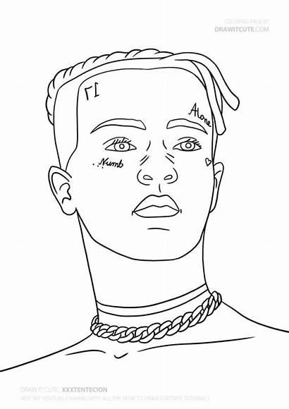 Coloring Xxxtentacion Famous Rappers Kleurplaat Rapper Drawings