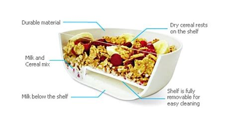 invention cuisine this clever bowl keeps your cereal crunchy by separating