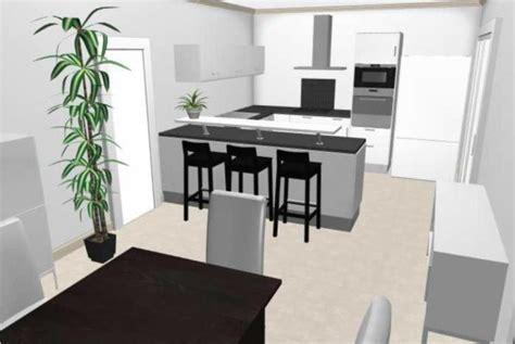plan en 3d cuisine implantation cuisine plan 3d le de seb