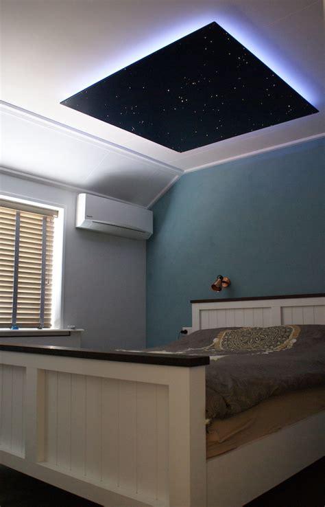 bedroom starry night lights art ceiling art tiles artistic high light bedroom design ideas