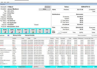 portfolio management reporting advisors assistant
