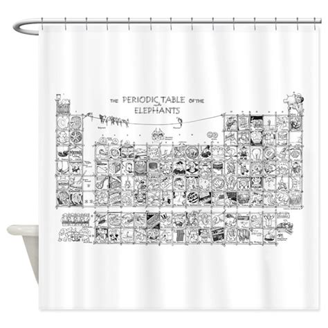 periodic table shower curtain periodic table shower curtain by dsartstore