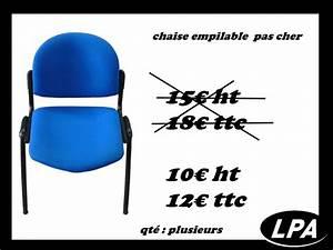 Mobilier De Bureau Pas Cher : chaise empilable pas cher chaise mobilier de bureau lpa ~ Teatrodelosmanantiales.com Idées de Décoration