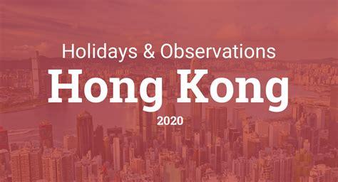 holidays  observances  hong kong