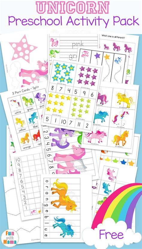 unicorn preschool activity preschool playtime preschool learning activities preschool