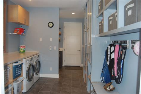modern mudroom contemporary laundry room san