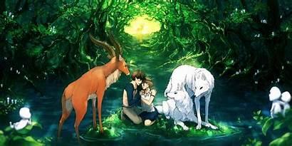 Ghibli Mononoke Princess Studio Desktop Wallpapers Backgrounds