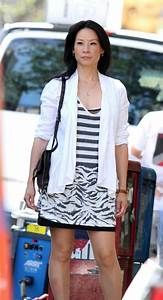 Lucy Liu On The Set Of Elementary In NYC - Celebzz