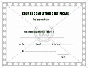 free course completion certificate template With class completion certificate template