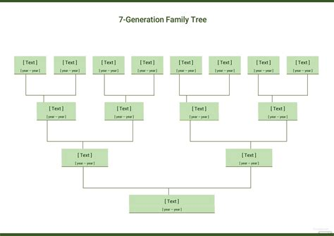 Family Will Template by Seven Generation Family Tree Template In Microsoft Word