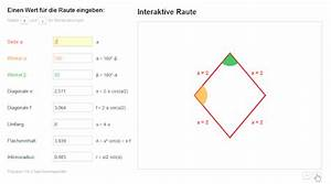Mol Berechnen : matheretter prototyp f r neues programm zum berechnen von rauten rhomben mathelounge ~ Themetempest.com Abrechnung