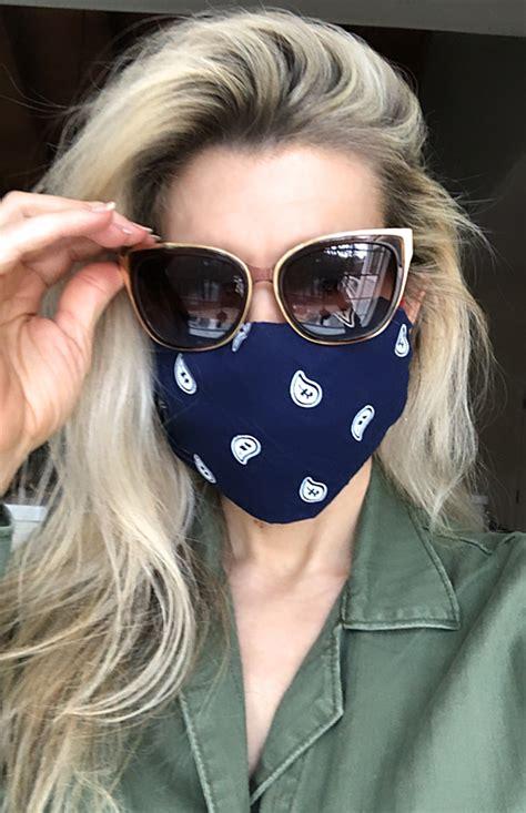 sew diy face mask  bandana hair