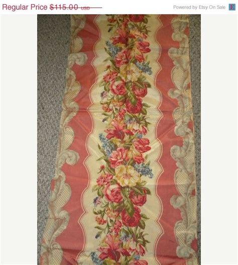 autumn sale shabby vintage barkcloth era fabric