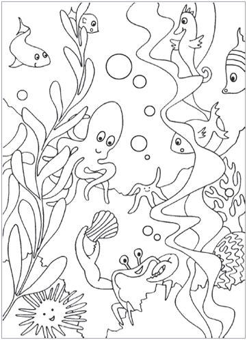 sea coloring pages  website