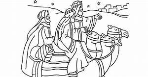 Die Reise Der Heiligen Drei Knige Malbogen Winter