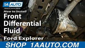 How To Change Front Differential Fluid 2002