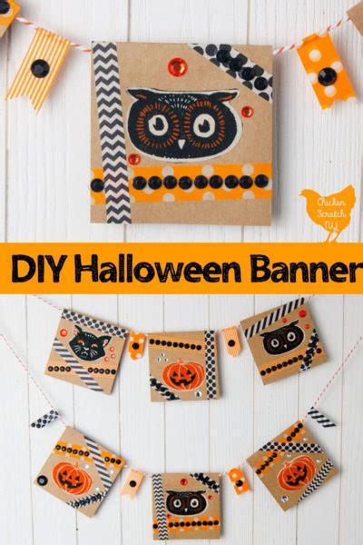 easy fabric paper halloween banner