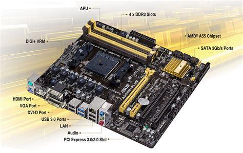 asus a55bm plus csm motherboard amd dual a6 5400k cpu combo ebay