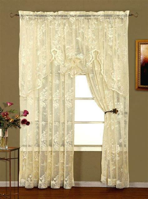 abbey rose lace valance ivory  white shabby