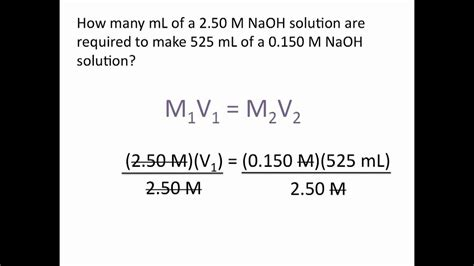 Dilution Problems  Chemistry Tutorial Youtube